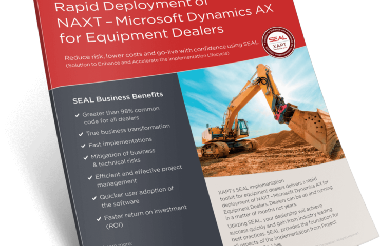 SEAL 700 preconfigured equipment dealer processes for rapid implementations